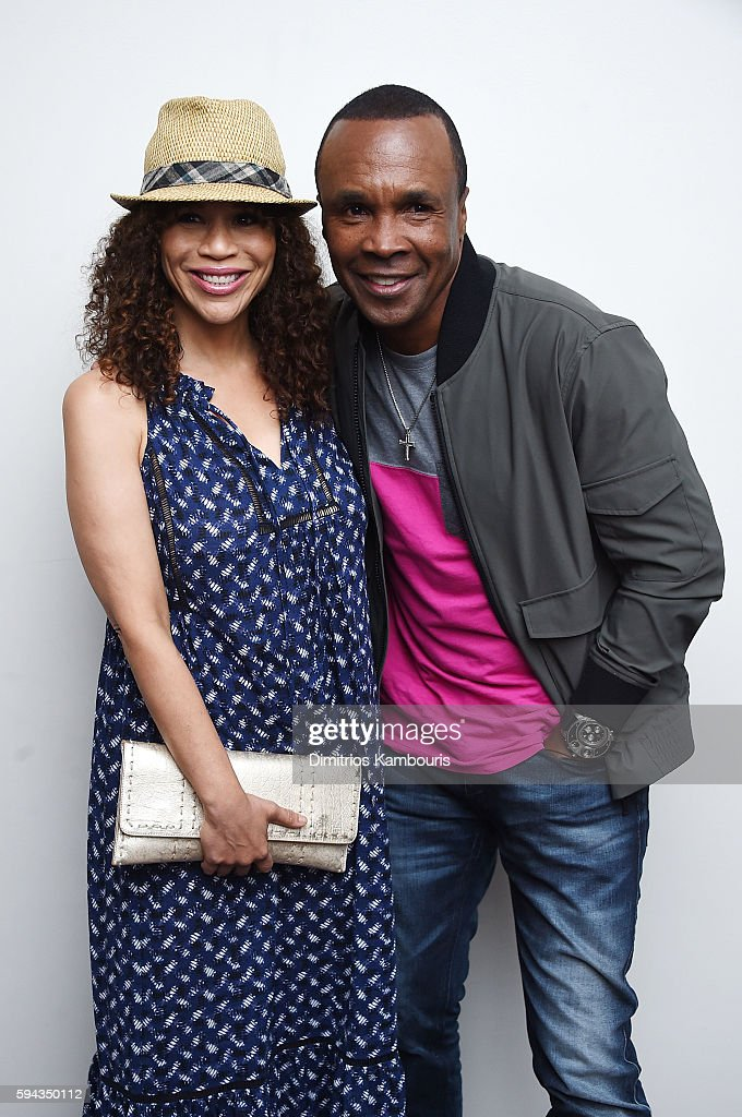 Rosie Perez and Sugar Ray Leonard attend the 'Hands Of Stone' U.S. premiere after party at The Redbury New York on August 22, 2016 in New York City.