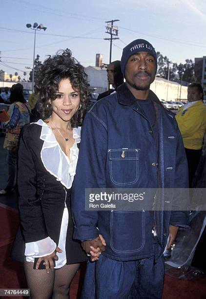Rosie Perez and Tupac Shakur at the Shrine Auditorium in Los Angeles California