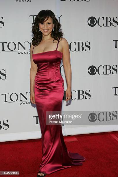 Rosie Perez attends 60th Annual Tony Awards Arrivals at Radio City Music Hall on June 11 2005 in New York City