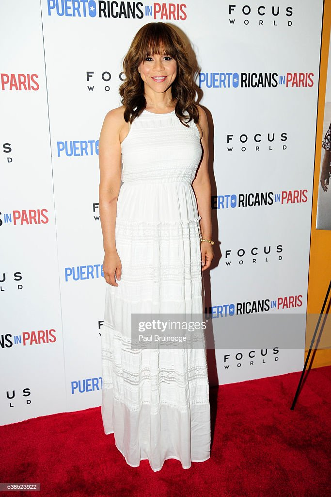 Rosie Perez attends New York Special Red Carpet Screening of Focus World's PUERTO RICANS IN PARIS at Landmark Sunshine on June 6, 2016 in New York City.