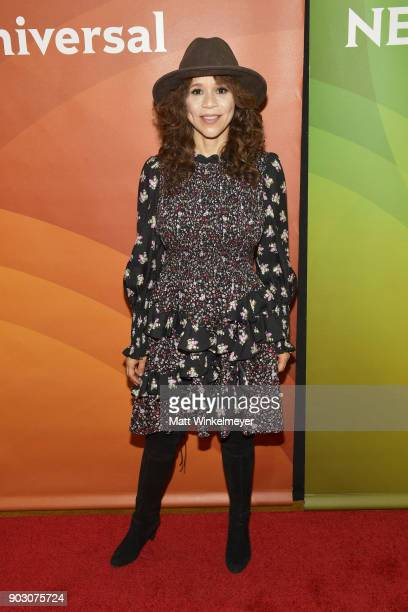 Rosie Perez attends the 2018 NBCUniversal Winter Press Tour at The Langham Huntington Pasadena on January 9 2018 in Pasadena California