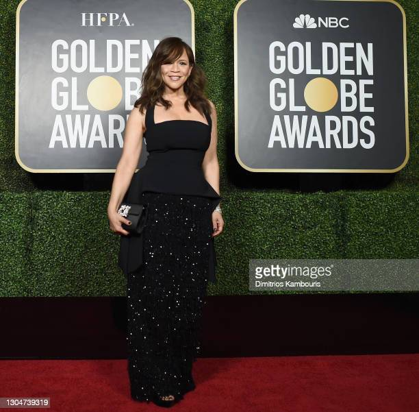 Rosie Perez attends the 78th Annual Golden Globe® Awards at The Rainbow Room on February 28, 2021 in New York City.