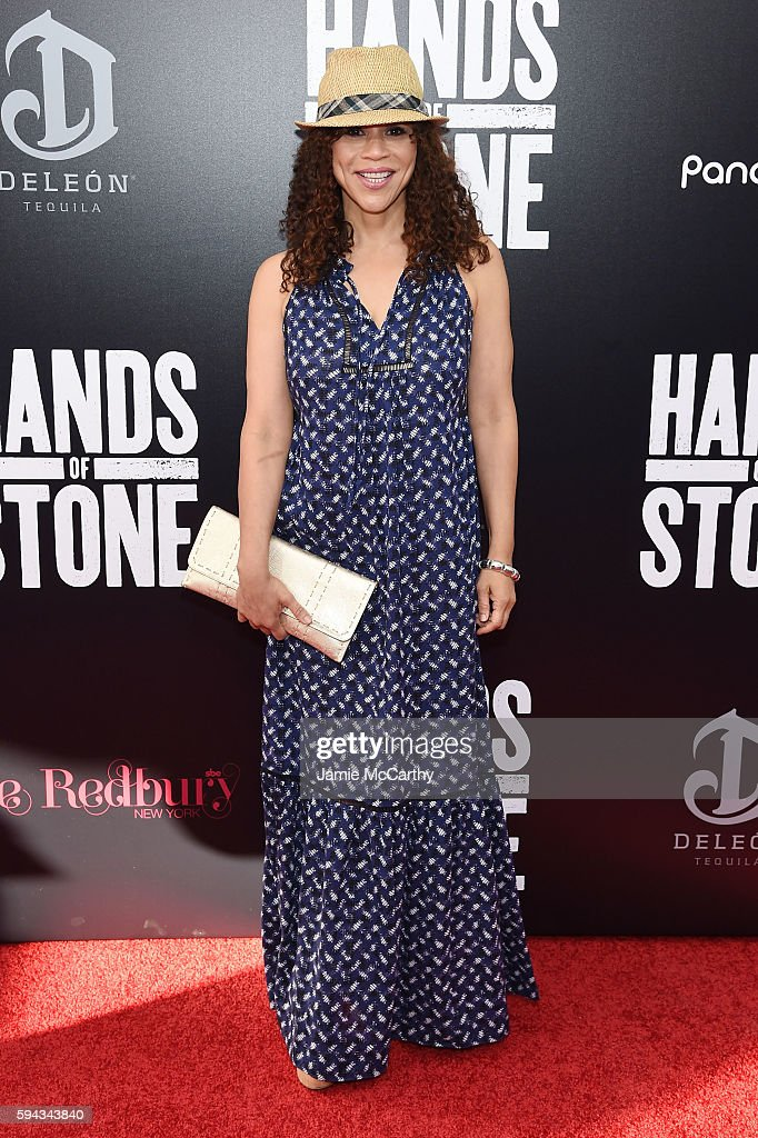 Rosie Perez attends the 'Hands Of Stone' U.S. premiere at SVA Theater on August 22, 2016 in New York City.