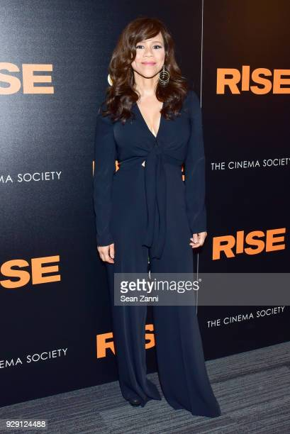 Rosie Perez attends the premiere of 'Rise' hosted by NBC The Cinema Society at The Landmark at 57 West on March 7 2018 in New York City