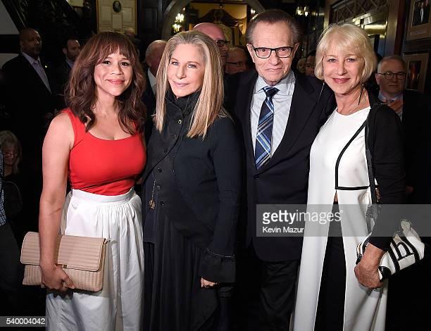 Rosie Perez Barbra Streisand Larry King and Helen Mirren attend New York Friar's Club 'Barbra Streisand Room' ribbon cutting at New York Friars Club...