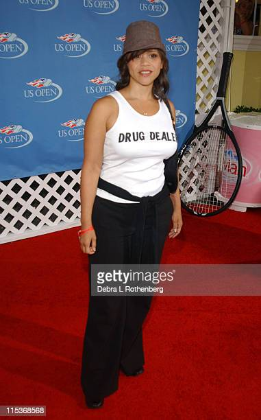 Rosie Perez during 2004 US Open - Red Carpet Event for Celebrities and VIPs During Women's Single Finals at USTA National Tennis Center in New York...