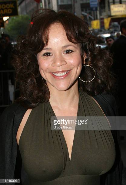 Rosie Perez during 'Three Days of Rain' Broadway Opening Night Arrivals at Bernard B Jacobs Theatre in New York City New York United States