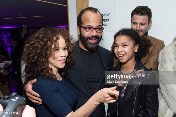 Rosie Perez Jeffrey Wright and Juno Wright attend the 'Roman J Israel Esquire' New York Premiere at Henry R Luce Auditorium at Brookfield Place on...