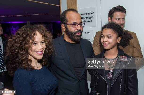 Rosie Perez Jeffrey Wright and Juno Wright attend the Roman J Israel Esquire New York Premiere at Henry R Luce Auditorium at Brookfield Place on...