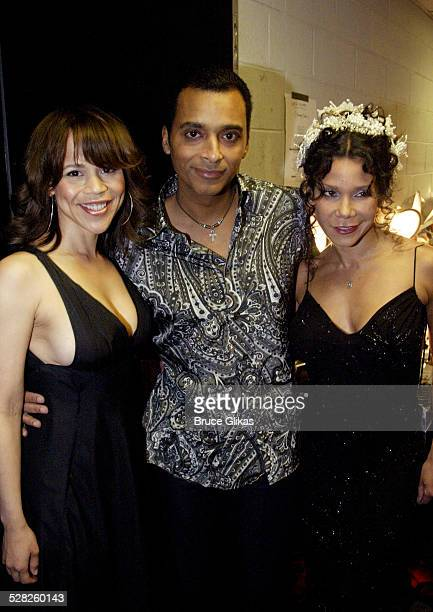 Rosie Perez Jon Secada and Daphne RubinVega during Latin Rhythyms II to Benefit Broadway Cares/Equity Fights AIDS at BB King Blues Club and Grill in...