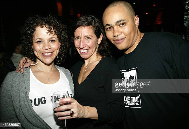 Rosie Perez Lisa Leone and Thibaut De Longeville during 4th Annual Tribeca Film Festival Just For Kicks After Party at Kos in New York City New York...