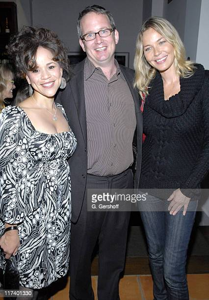 Rosie Perez Ted Hope and Connie Nielsen during 14th Annual Hamptons International Film Festival Industry Toast to Ted Hope at East Hampton Point in...