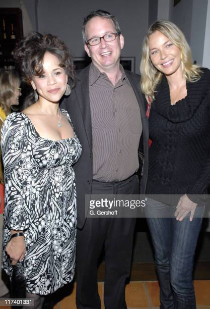 Rosie Perez, Ted Hope and Connie Nielsen during 14th Annual Hamptons International Film Festival - Industry Toast to Ted Hope at East Hampton Point...