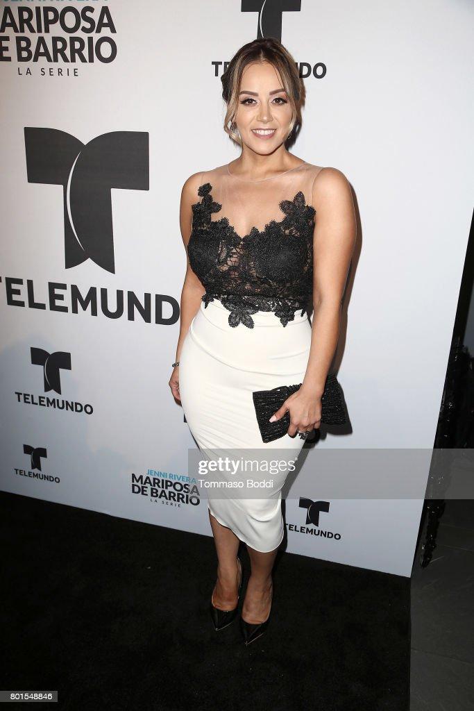 Rosie Rivera attends the Screening Of Telemundo's 'Jenni Rivera: Mariposa De Barrio' at The GRAMMY Museum on June 26, 2017 in Los Angeles, California.
