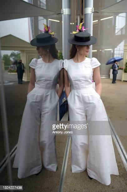Rosie Tapner poses during Royal Ascot 2021 at Ascot Racecourse on June 18, 2021 in Ascot, England.