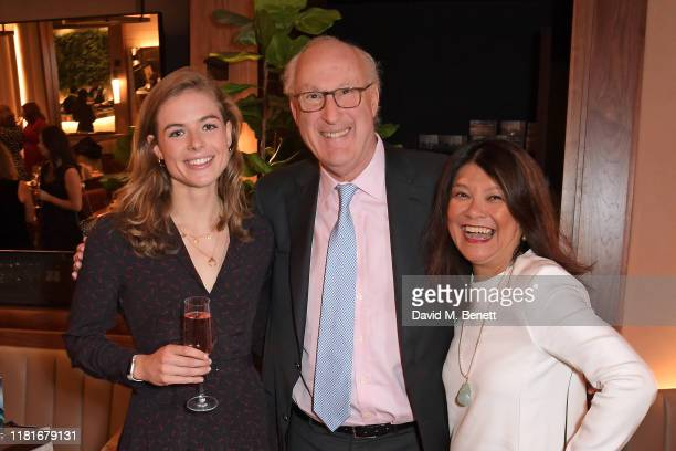 Rosie Tapner, Sir Victor Blank and Alice Fresson attend a lunch hosted by Amanda Staveley for 'Wellbeing Of Women', Britain's foremost female health...