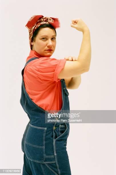 Rosie the Riveter Inspired Studio Shot