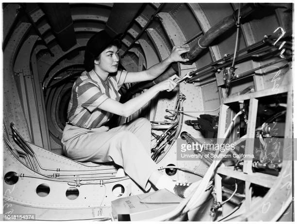 Rosie the Riveter' North American Aircraft 26 October 1951 Mrs Beatrice Woltkamp 32 yearsMrs Marjorie Weaver 25 yearsJoyce Oliver 23 yearsJoan Smith...