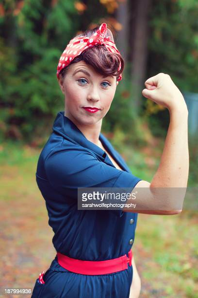 rosie the riveter - rosie the riveter stock pictures, royalty-free photos & images