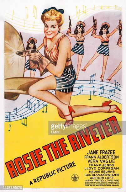 Rosie The Riveter poster US poster art Jane Frazee 1944