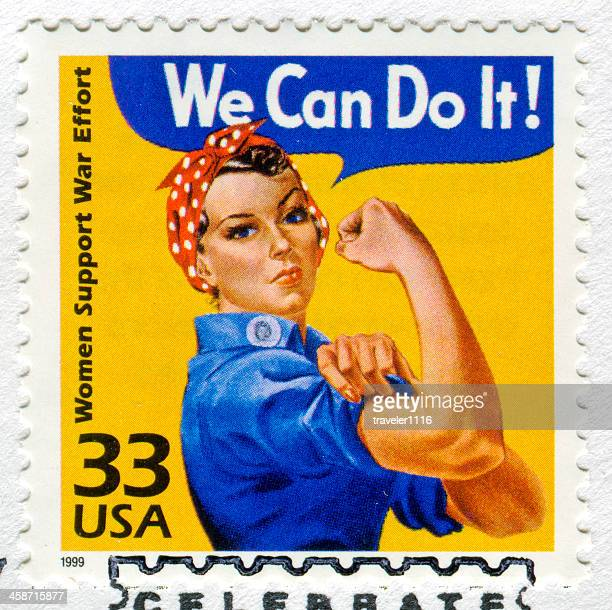 rosie the riveter stamp - postage stamp stock pictures, royalty-free photos & images