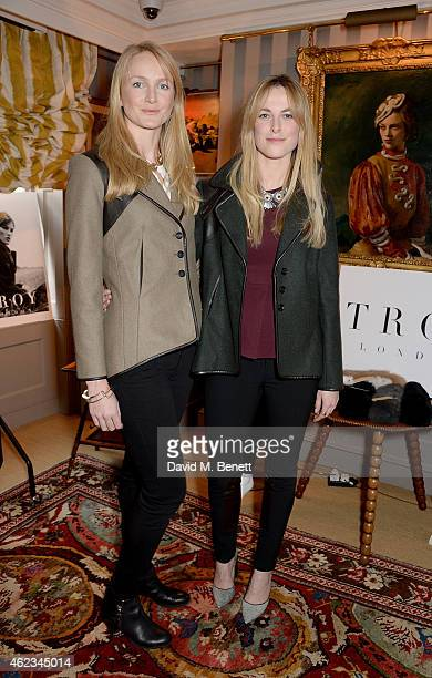 Rosie van Cutsem and Lucia Ruck Keene attend a lunch hosted by Katie Readman for luxury outerwear brand TROY London at 5 Hertford Street on January...