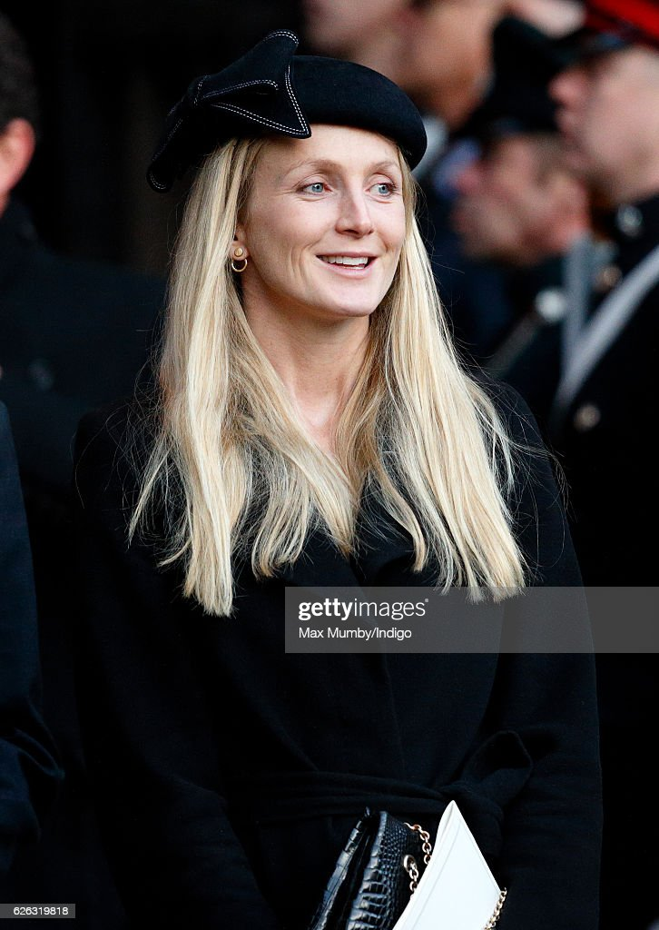Rosie van Cutsem attends a Memorial Service for Gerald Grosvenor, 6th Duke of Westminster at Chester Cathedral on November 28, 2016 in Chester, England. Gerald Cavendish Grosvenor, 6th Duke of Westminster died aged 64 on August 9, 2016 and is survived by his wife, The Duchess of Westminster, Natalia Grosvenor, daughters Lady Tamara van Cutsem, Lady Edwina Snow and Lady Viola Grosvenor and his 25-year-old son and heir Hugh Grosvenor, 7th Duke of Westminster.