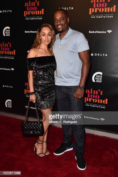 Rosie Whitfield and Charles Malik Whitfield attend the Opening Night of Ain't Too Proud The Life And Times Of The Temptations at the Ahmanson Theatre...