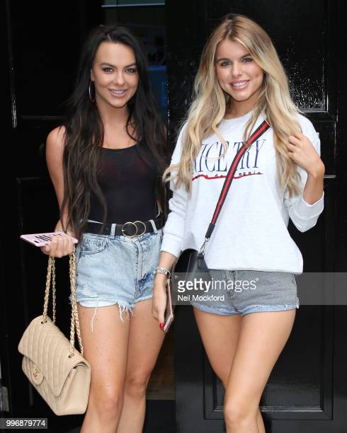 Rosie Williams and Hayley Hughes seen arriving at KISS FM UK on July 12 2018 in London England