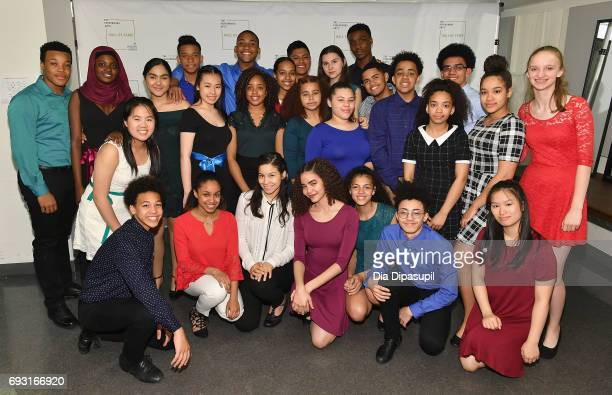 Rosie's Theater Kids Chorus attend Lincoln Center Hall Of Fame Gala at the Alice Tully Hall on June 6 2017 in New York City