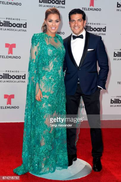 Rosina Grosso and Paulo Quevedo attend the Billboard Latin Music Awards at Watsco Center on April 27 2017 in Coral Gables Florida