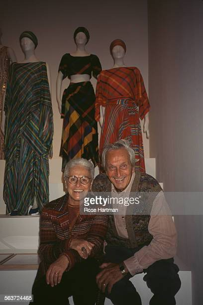Rosita and Ottavio Missoni at the Fashion Institute of Technology New York City circa 1992