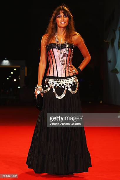 Rosita Celentano attends the Yuppi Du premiere at the Sala Grande during the 65th Venice Film Festival on September 4 2008 in Venice Italy