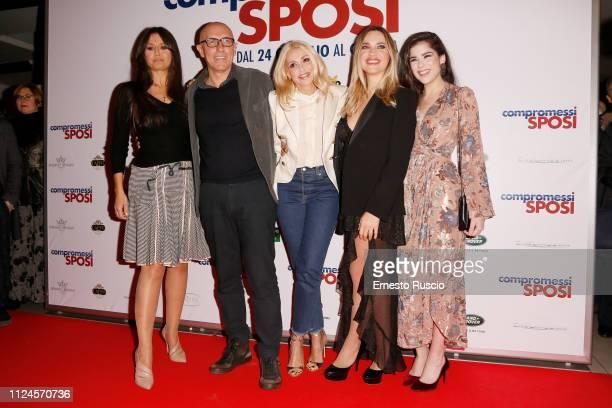 Rosita Celentano Francesco Micciche Elda Alvigini Carolina Rey and Grace Ambrose attend Compromessi Sposi photocall on January 24 2019 in Rome Italy