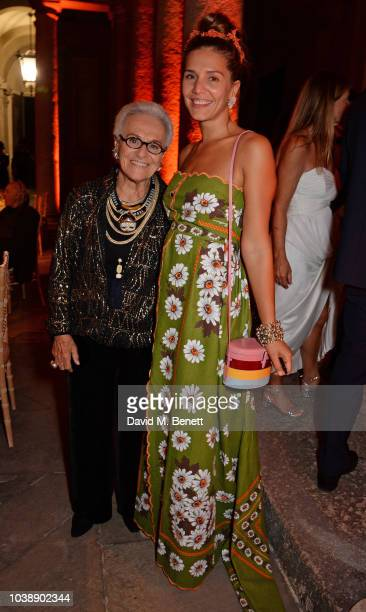 Rosita Missoni and Margherita Missoni attend The Green Carpet Fashion Awards Italia 2018 after party at Gallerie d'Italia on September 23 2018 in...