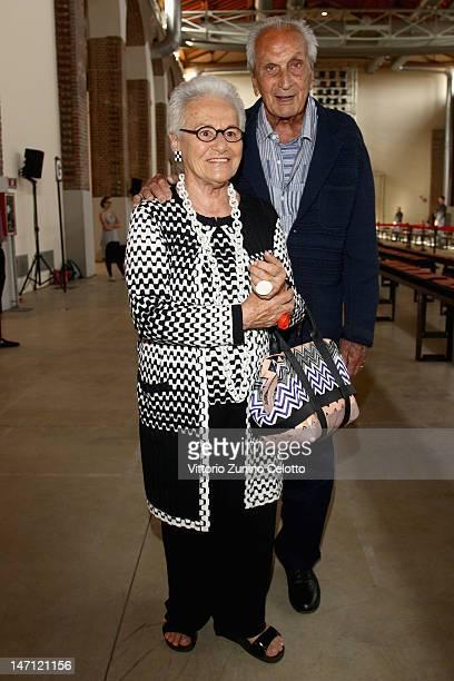 Rosita Missoni and Ottavio Missoni attend the Missoni show as part of Milan Fashion Week Menswear Spring/Summer 2013 on June 25, 2012 in Milan, Italy.