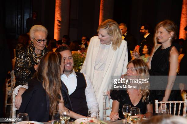 Rosita Missoni Armie Hammer Cate Blanchett Guest and Alba Rohrwacher attend The Green Carpet Fashion Awards Italia 2018 after party at Gallerie...