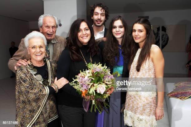 Rosita Missoni, Ottavio Missoni, Angela Missoni, Francesco Missoni, Teresa Missoni and Margherita Missoni attend the Missoni Surprise Party during...
