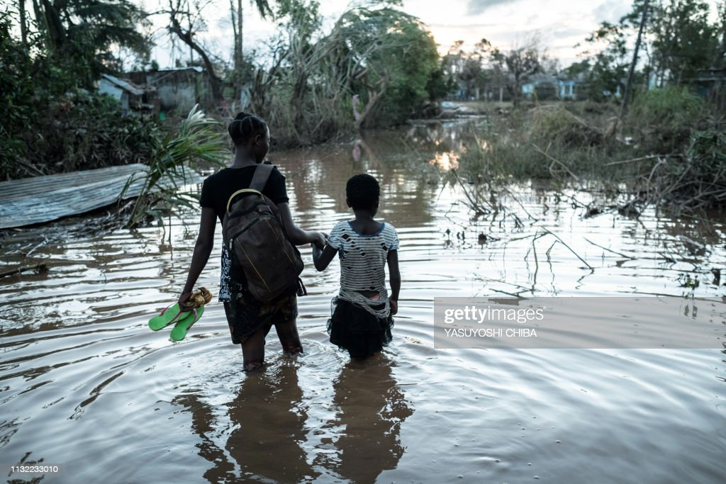 TOPSHOT-MOZAMBIQUE-WEATHER-CYCLONE : News Photo