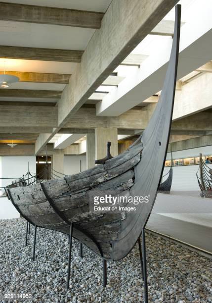 Roskilde Denmark Preserved and reconstructed boat in Viking Ship Museum