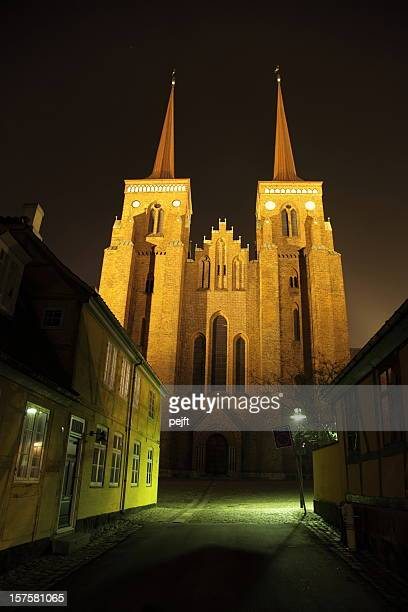 Roskilde Domkirke (Cathedral) at night - Tomb of the Kings!