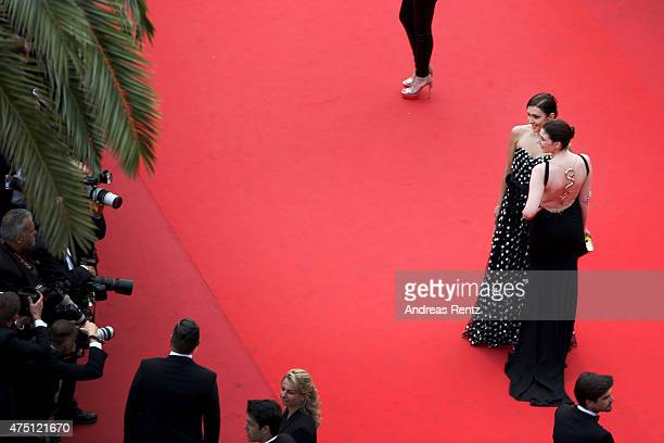 Roskino CEO Katya Mtsitouridze and guest attend the closing ceremony and Premiere of 'La Glace Et Le Ciel' during the 68th annual Cannes Film...