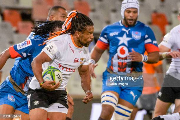 Rosko Specman of Toyota Cheetahs during the Super Rugby Unlocked match between the Toyota Cheetahs and Vodacom Bulls at Toyota Stadium on October 16...