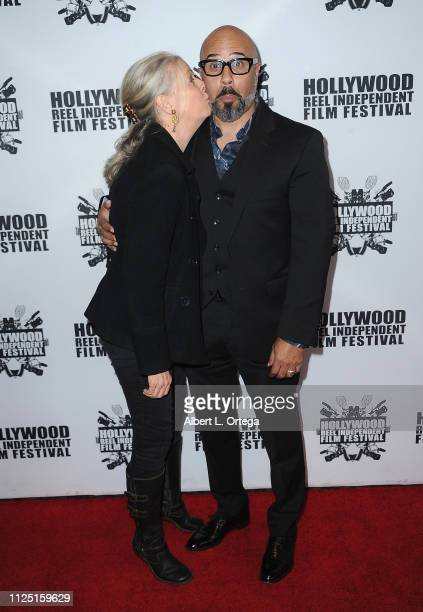 Roslyn Gentle and Chris Roe arrive for The 2019 Hollywood Reel Independent Film Festival held at Regal LA Live Stadium 14 on February 15 2019 in Los...