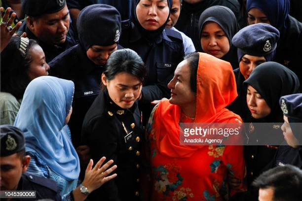 Rosmah Mansor wife of former Prime Minister of Malaysia Najib Razak arrives at Kuala Lumpur High Court on October 4 2018 The wife of Malaysias former...
