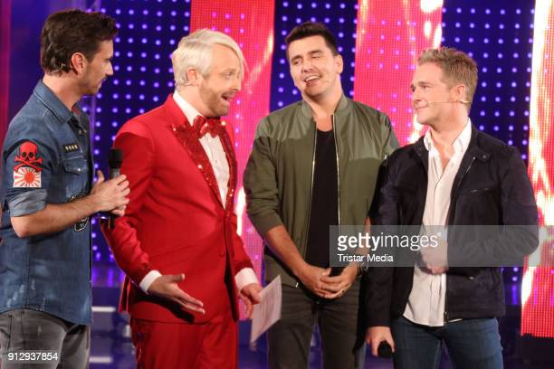 Ross Antony and Klubbb 3 during the TV Show 'Meine Schlagerwelt Die Party' hosted by Ross Antony on January 31 2018 in Leipzig Germany