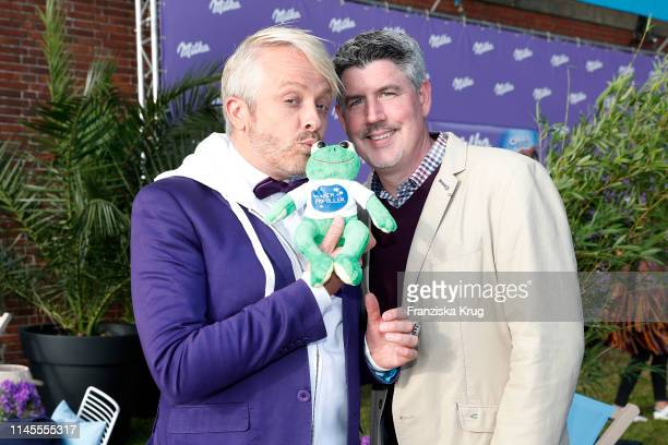 Ross Antony and Paul Reeves during the Milka Charity Blobbing-Event at Hamburger Stadtpark on May 22, 2019 in Hamburg, Germany.