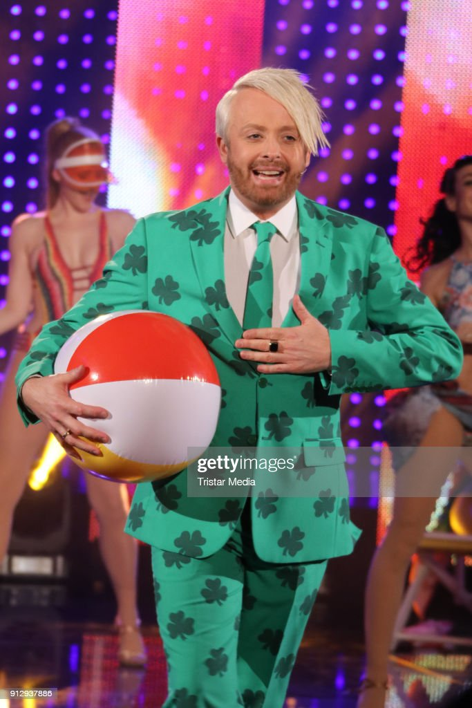 Ross Antony during his host of the TV Show 'Meine Schlagerwelt - Die Party' on January 31, 2018 in Leipzig, Germany.