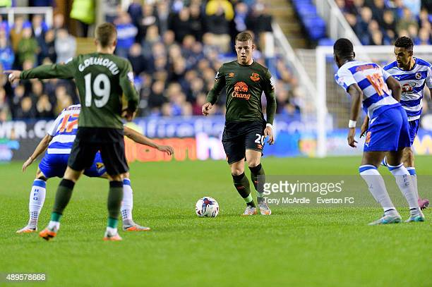 Ross Barkley during the Capital One Cup match between Reading and Everton at Madejski Stadium on September 22, 2015 in Reading, England.