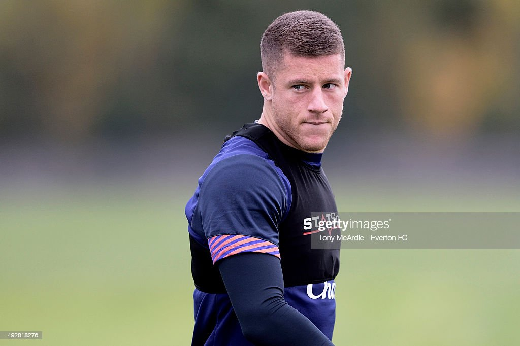 Ross Barkley during the Everton training session at Finch Farm on October 15, 2015 in Halewood, England.